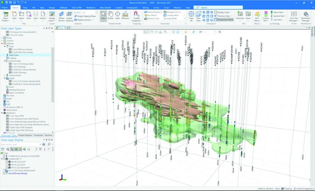 Micromine-2021-Implicit-Modelling-example-project